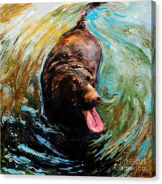 Labrador Retriever Canvas Print - Fudge Ripple by Molly Poole