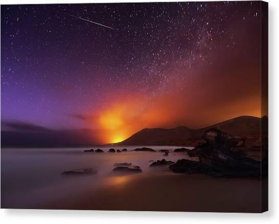 Shooting Stars Canvas Print - Fuerteventura by Martin Zalba