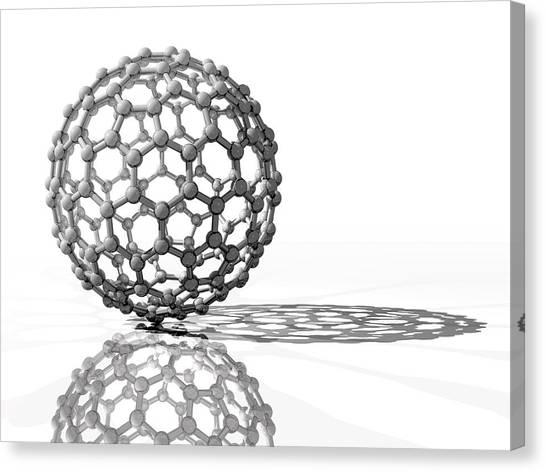 Molecule Canvas Print - Fullerene Molecule by Laguna Design