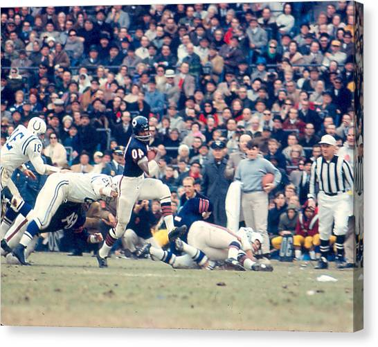 Running Backs Canvas Print - Gale Sayers by Retro Images Archive