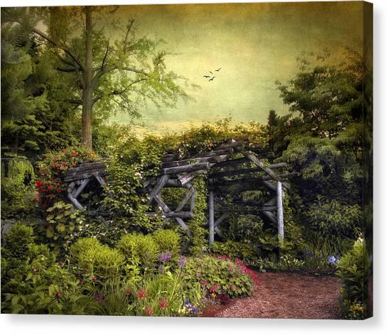 Arbor Canvas Print - Garden Arbor by Jessica Jenney