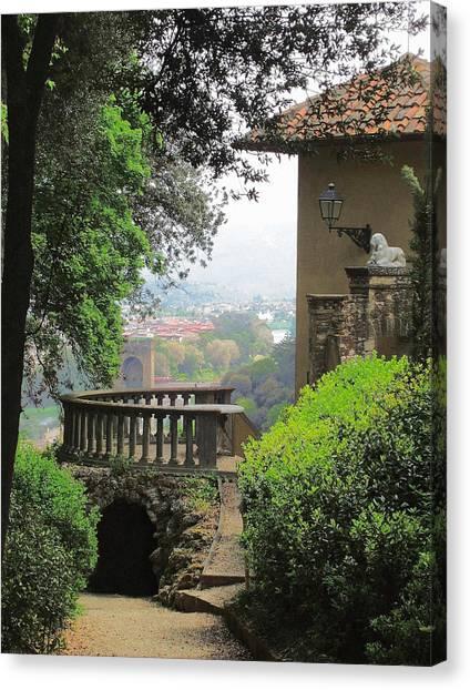 Garden View Canvas Print