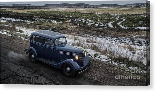 Ural Mountains Canvas Print - Gaz M1 by Gleb Klementev