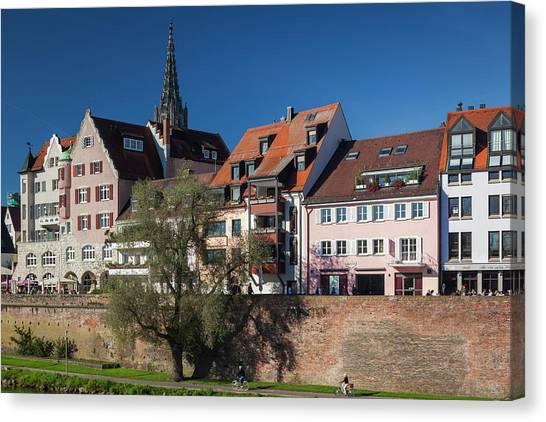 Danube Canvas Print - Germany, Baden-wurttemburg, Ulm by Walter Bibikow
