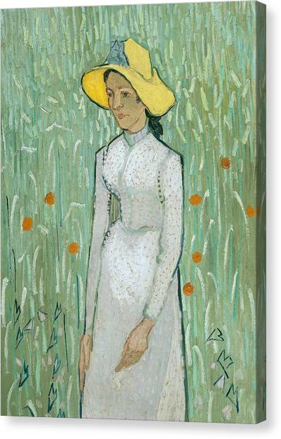 Vincent Van Gogh Canvas Print - Girl In White by Vincent van Gogh