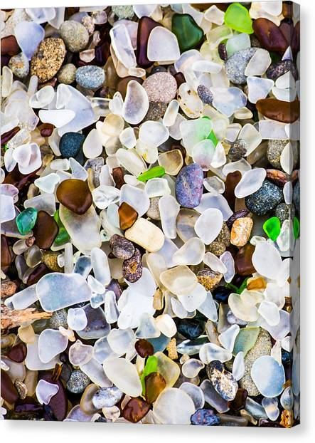 Canvas Print featuring the photograph Glass Beach by Priya Ghose