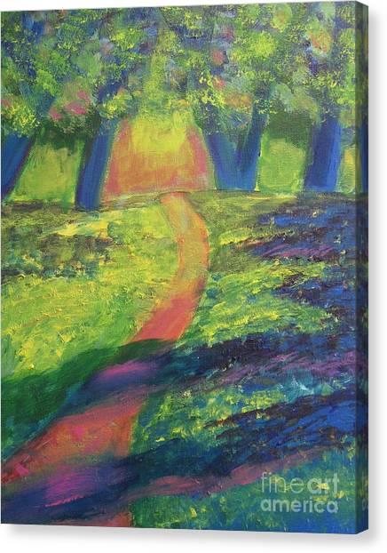 Glowing Path Canvas Print