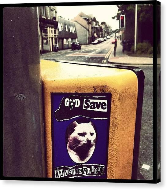 Punk Canvas Print - #godsave #kunstenfuhrer #sticker by Kiss My Kunst
