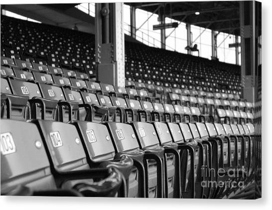 Wrigley Field Canvas Print - Good Seats Available... by David Bearden