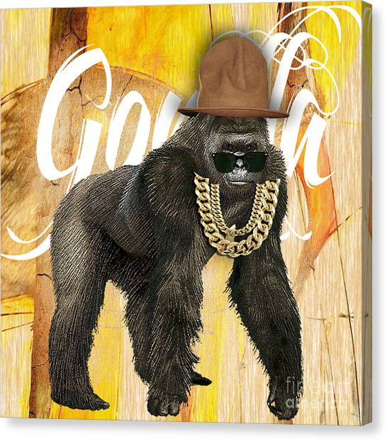 Animal Canvas Print - Gorilla Collection by Marvin Blaine