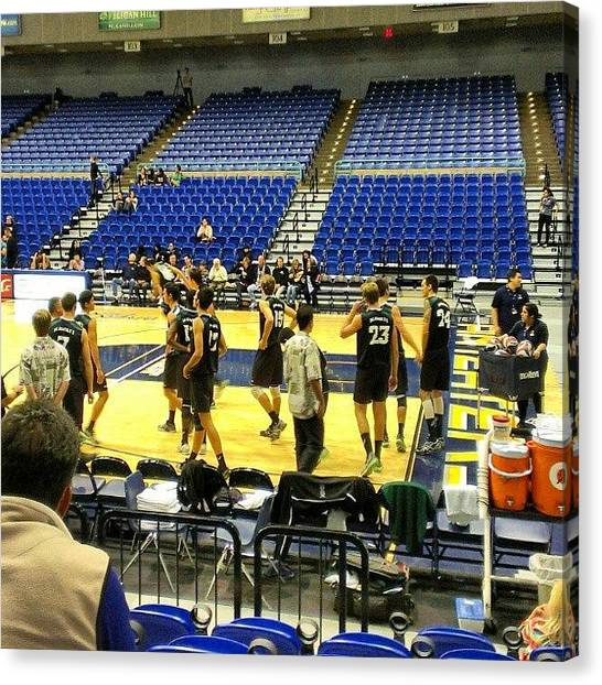 Volleyball Canvas Print - Got To Watch My Alma Mater Play Uci by Wyan Vong