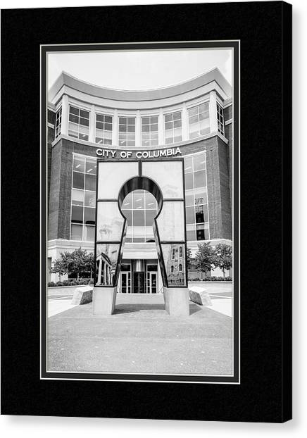 Matting Canvas Print - Government Offices Columbia Missouri by Charles Feagans