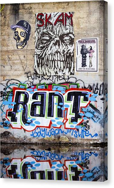 Urban Decay Canvas Print - Graffiti by Carol Leigh