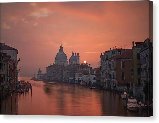 Baroque Art Canvas Print - Grand Canal - Venice, Italy by Georgy Krivosheev