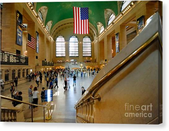 Amtrak Canvas Print - Grand Central Station New York City by Amy Cicconi