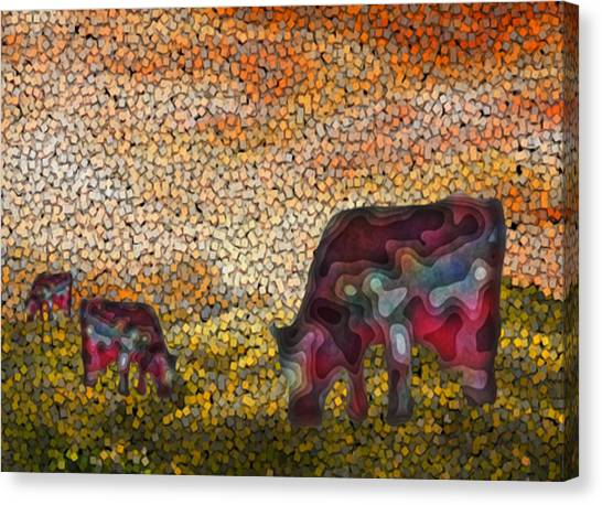 Installation Art Canvas Print - Grazing  by Jack Zulli