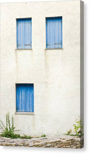 Window Canvas Print - Greek House by Tom Gowanlock