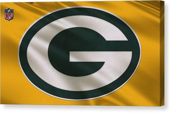 Green Bay Packers Canvas Print - Green Bay Packers Uniform by Joe Hamilton