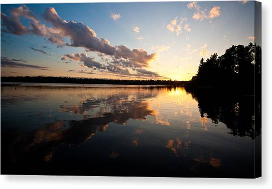 Lake Sunsets Canvas Print - Greenlake Sunset by Mike Reid