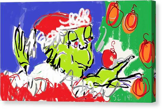 Grinch Canvas Print - Grinch by Samuel Zylstra