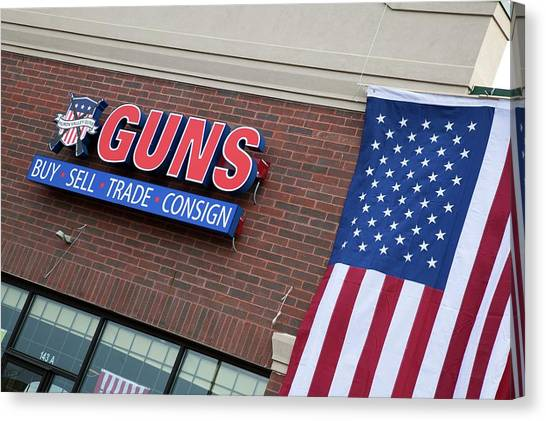 Gun Control Canvas Print - Gun Store by Jim West