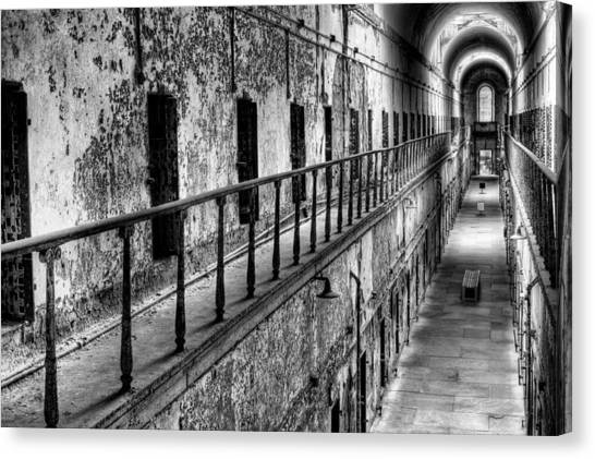 Philidelphia Canvas Print - Hallway To Hell by JC Findley