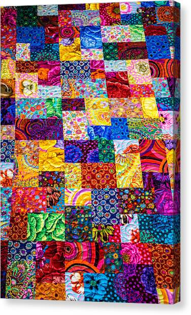 Hand Made Quilt Canvas Print