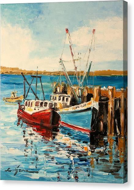 Harbour Impression Canvas Print