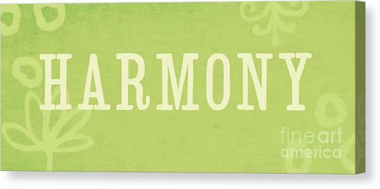 Zen Harmony Canvas Print - Harmony by Linda Woods