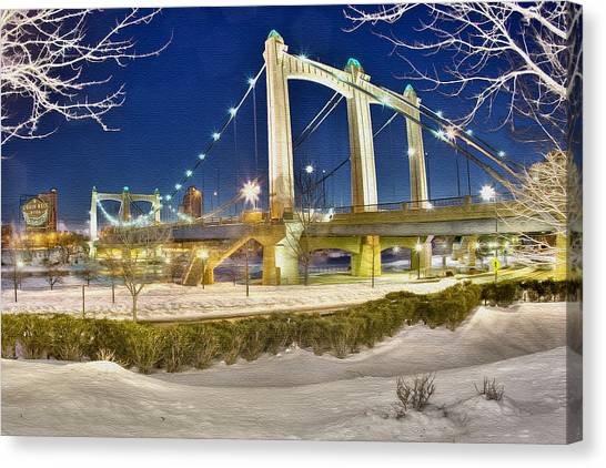 Hennepin Avenue Bridge Canvas Print by Jason Alexander