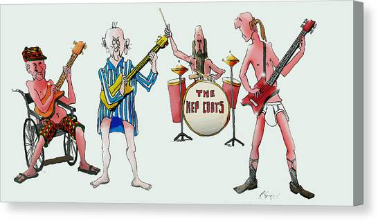 Sixties And Seventies Musicians Canvas Print