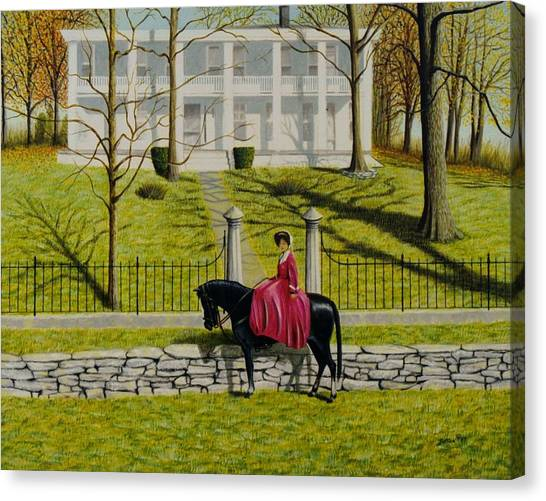 Her Favorite Horse Canvas Print