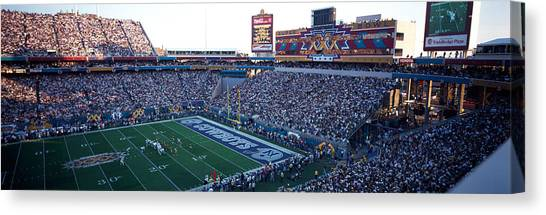 Superbowl Canvas Print - High Angle View Of A Football Stadium by Panoramic Images