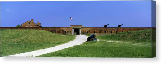 Fernandina Beach Canvas Print - High Angle View Of A Fort, Fort Clinch by Panoramic Images