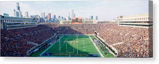 Soldier Field Canvas Print - High Angle View Of Spectators by Panoramic Images