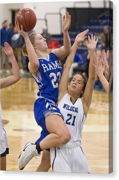 High School Basketball Canvas Print by Portland Press Herald