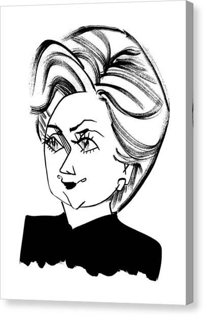 Hillary Clinton Canvas Print - Hillary Clinton by Tom Bachtell