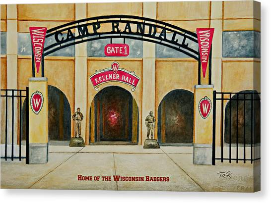 Home Of The Badgers Canvas Print