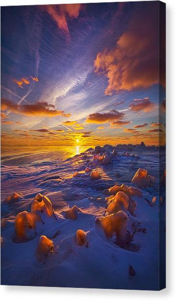Ice Caves Canvas Print - Horizons by Phil Koch