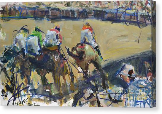 Horse Racing Painting Canvas Print
