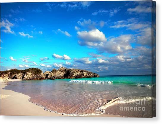 Horseshoe Bay In Bermuda Canvas Print