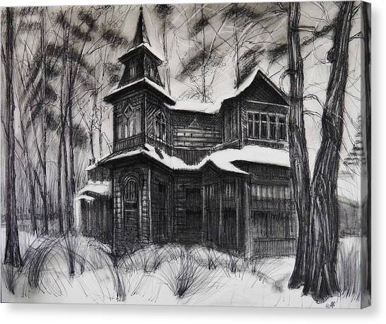 House In The Woods Canvas Print By Raffi Jacobian