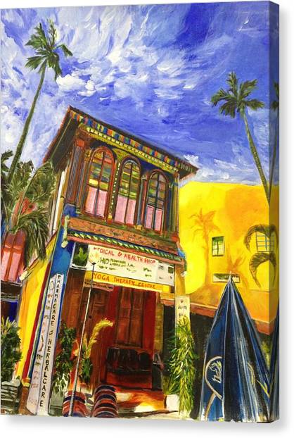 House Of The Rising Palms Canvas Print