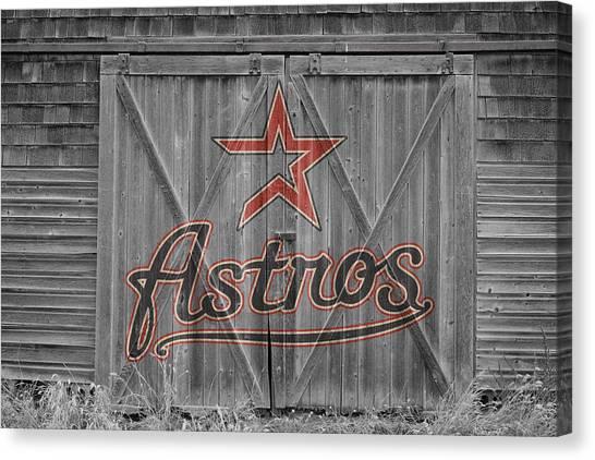 Houston Astros Canvas Print - Houston Astros by Joe Hamilton