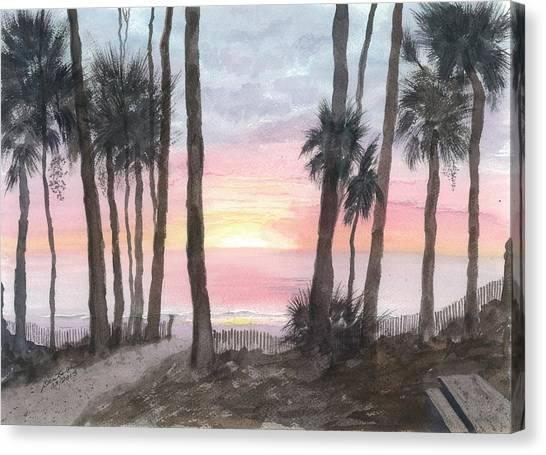 Hunting Island Sunrise Canvas Print