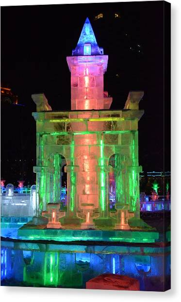 Ice Sculpture Canvas Print by Brett Geyer