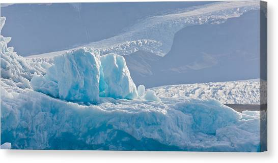 Vatnajokull Glacier Canvas Print - Icebergs At The Jokulsarlon Glacial by Panoramic Images