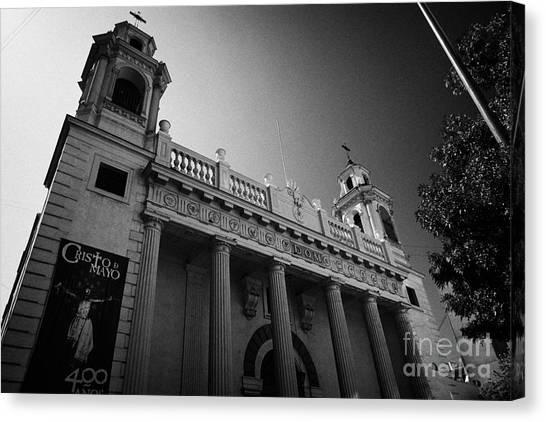 iglesia san agustin Santiago Chile Canvas Print by Joe Fox