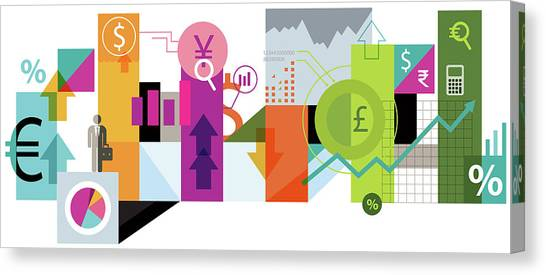 Yen Canvas Print - Illustration Of Online Trading by Fanatic Studio / Science Photo Library
