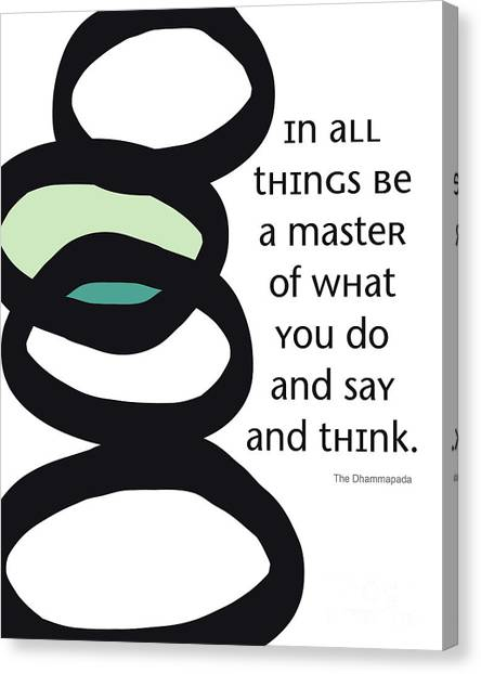 Yoga Canvas Print - In All Things by Linda Woods